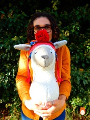 Ms Cocoa Alpaca fauxidermy