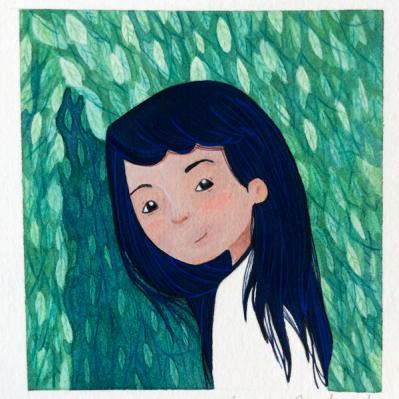 Ebony Malone. Watercolour, gouache and coloured pencil.